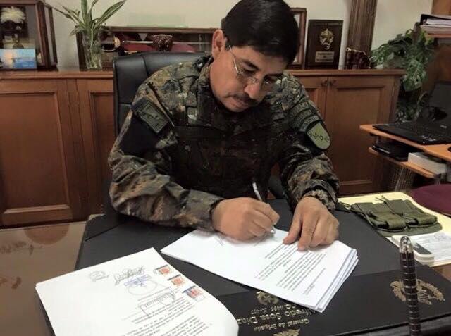 El General Alfredo Sosa Díaz, jefe del Estado Mayor de la Defensa, busca que no se persiga penalmente el genocidio, tortura y desaparición forzada. (Foto Prensa Libre: Facebook)