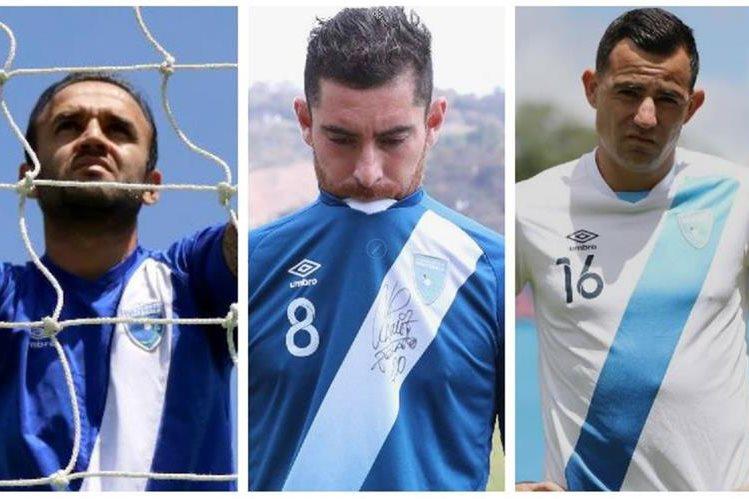 Contreras, Márquez y Pappa comparten su sentir por la suspensión al futbol guatemalteco. (Foto Prensa Libre).
