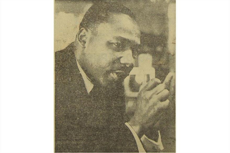 Martin Luther King, unas horas  antes de su muerte en  Memphis, Tennessee el 4/04/1968. (Foto: Hemeroteca PL)