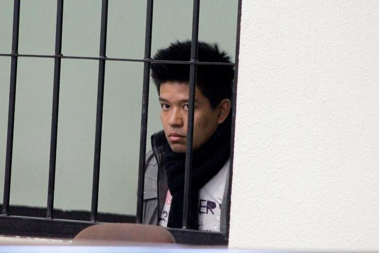 Hugo Valdemar Siau Hu Arrecis Yang es acusado de lanzarle ácido a un menor en Xela. (Foto Prensa Libre: María José Longo)