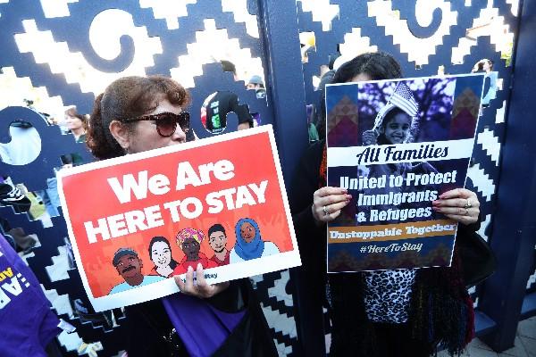 Inmigrantes y Defensores de inmigrantes se manifiestan en Washington DC. (AFP).