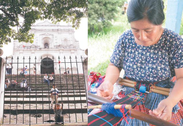 La parroquia de San Cristóbal, guarda tesoros de imaginería. Las palinecas mantienen sus raíces elaborando tejidos típicos. (Foto: Hemeroteca PL)