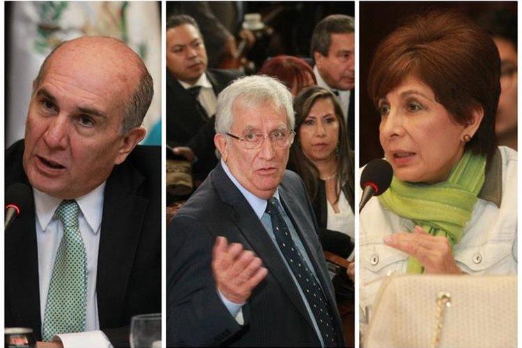 Mario Taracena, Oliverio García Rodas y Nineth Montenegro encabezan tres opciones para presidir el Congreso el próximo año. (Foto Prensa Libre: Hemeroteca PL)