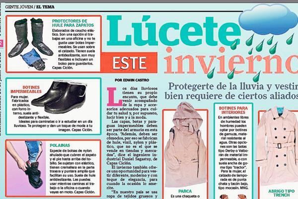 El invierno es una oportunidad para vestir diferente, moderno y con un toque de elegancia. Foto Prensa Libre: Hemeroteca PL.