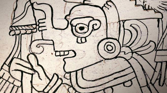 El Códice Grolier adquiere su nombre del Club Grolier de arqueología y arte de Nueva York al que fue llevado tras su descubrimiento en México en la década de 1960. JUSTIN KERR
