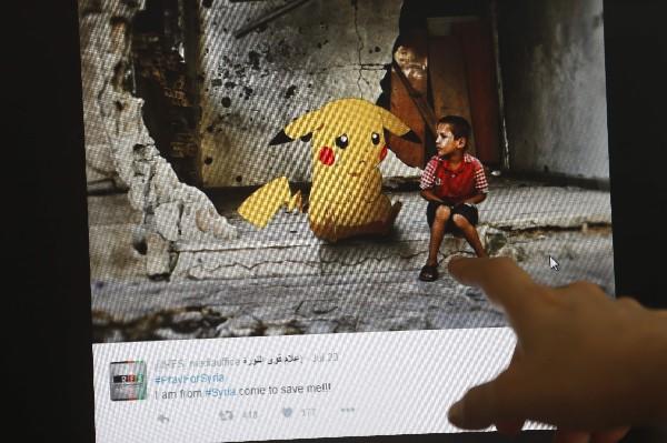 Fotos con escenas de conflicto en Siria puestas con aplicación de Pokémon.(AFP).