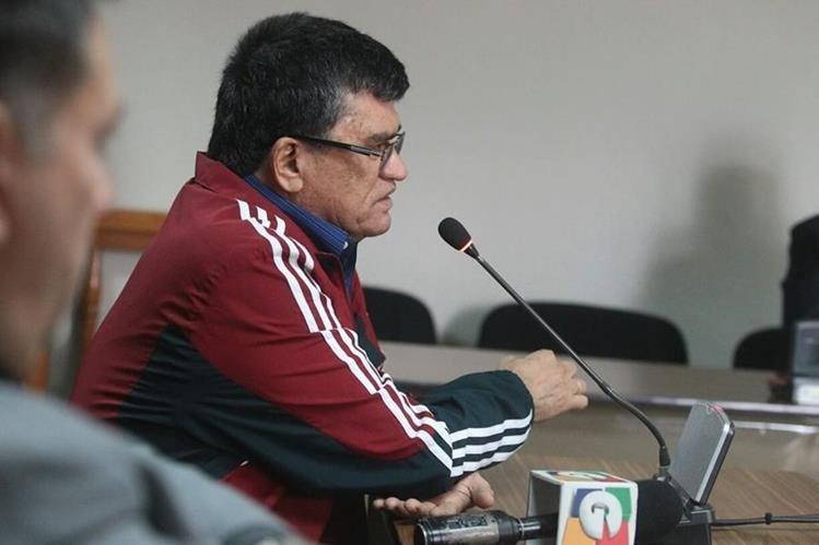 Arnoldo Medrano, exalcalde de Chinautla, enfrenta juicio por cobro ilegal de Iusi. (Foto Prensa Libre: Alvaro Interiano)