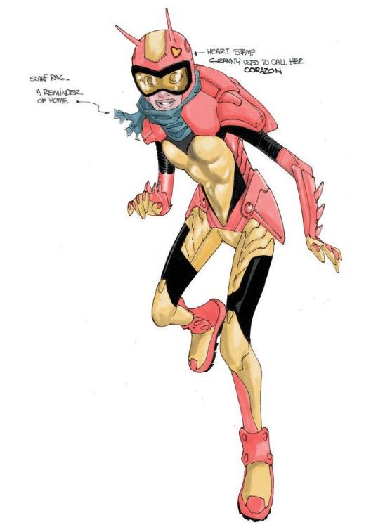 Fernanda Rodríguez es el nombre de la heroína inspirada en el Chapulín Colorado. (Foto Prensa Libre: LaCovacha).