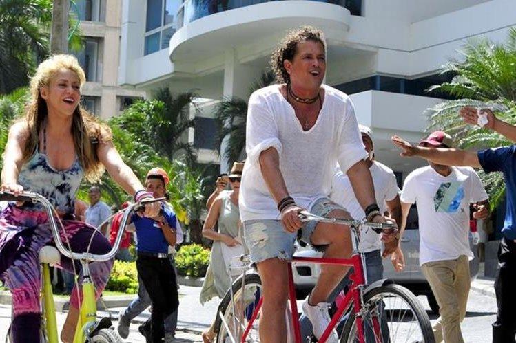 Shakira y Carlos Vives brillaron en el 2016 gracias al lanzamiento de La bicicleta. (Foto Prensa Libre: Hemeroteca PL)