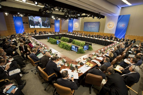 Visita de una asamblea general del FMI. (Hemeroteca PL)