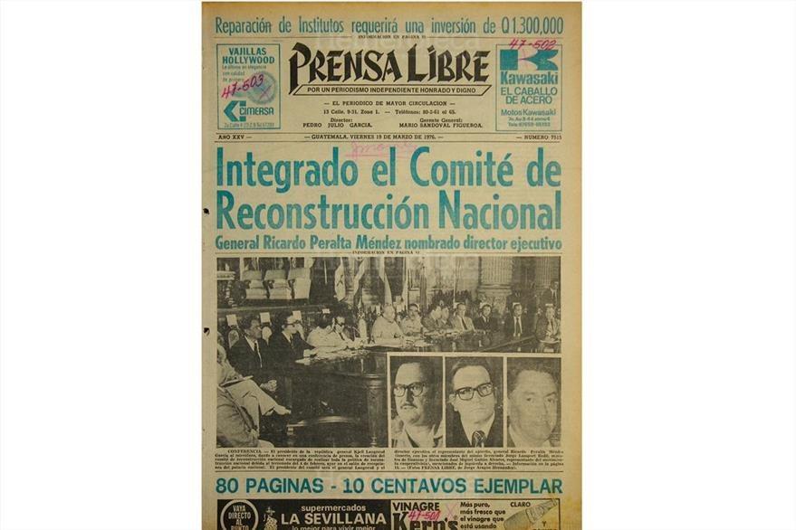 Portada del 19 de marzo de 1976, con titular sobre Comité de Reconstrucción Nacional. (Foto: Hemeroteca PL)
