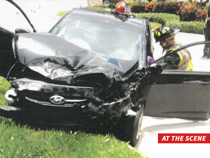 Este es el vehículo de Venus Williams luego del accidente. (Foto Prensa Libre: tomada de TMZ)