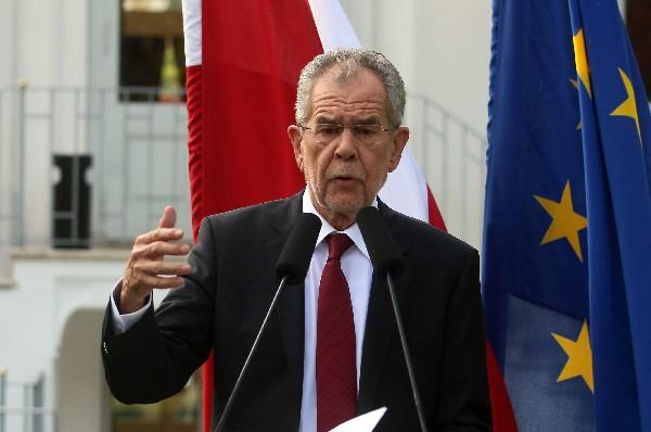Alexander Van der Bellen, ganador de las elecciones presidenciales de Australia.(AFP).