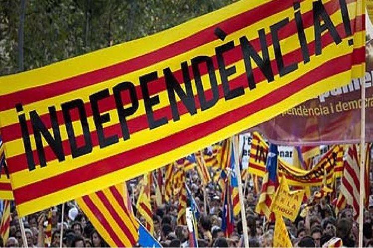 Manifestación por la independencia de Cataluña. (AP).