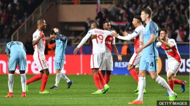 La eliminación contra el Mónaco fue la primera que sufrió Guardiola en Liga de Campeones antes de semifinales.