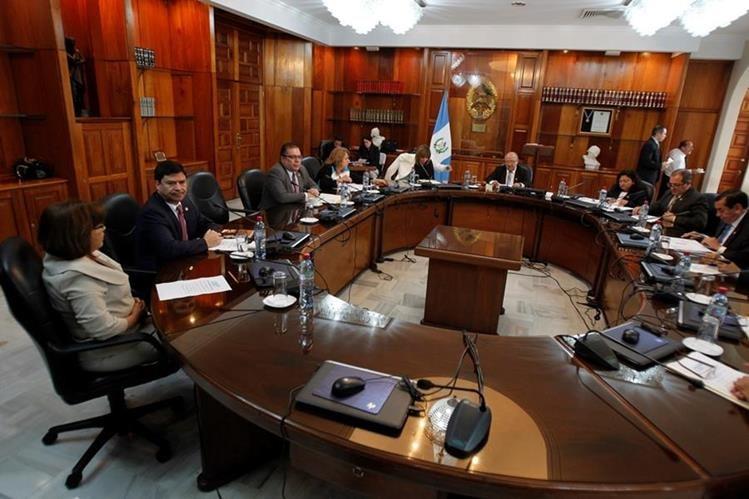 Para hoy está programada una nueva votación para elegir al presidente de la Corte Suprema de Justicia para el año 2018. (Foto Prensa Libre: Hemeroteca PL)