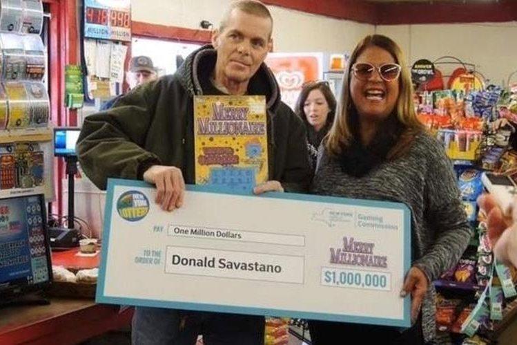 Donald Savastano murió de cáncer en Nueva York, EE.UU., luego de haber ganado US$1 millón en la lotería. (Foto Prensa Libre: Twitter)