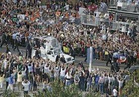 El Pontífice fue recibido de una manera apoteósica por los habitantes de Filadelfia.
