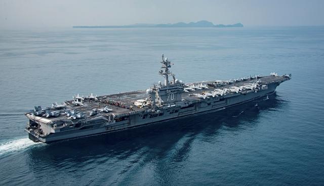 Portaaviones Carl Vinson de la Marina de EE. UU. (Foto Prensa Libre: AP)