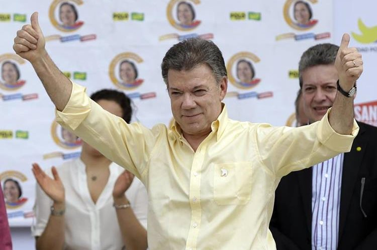 Juan Manuel Santos, presidente de Colombia. (Foto Prensa Libre: AP)
