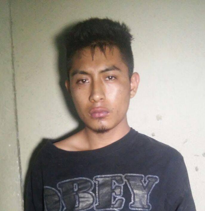 Antonio Ixbalan Chiquibal, de 18 años de edad, capturado en la zona 10 de Mixco (Foto PNC)