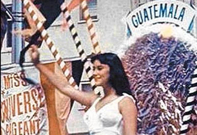 Rogelia Cruz durante su participación en el certamen de Miss Universo en Long Beach, Estados Unidos en 1959. (Foto: Hemeroteca PL)