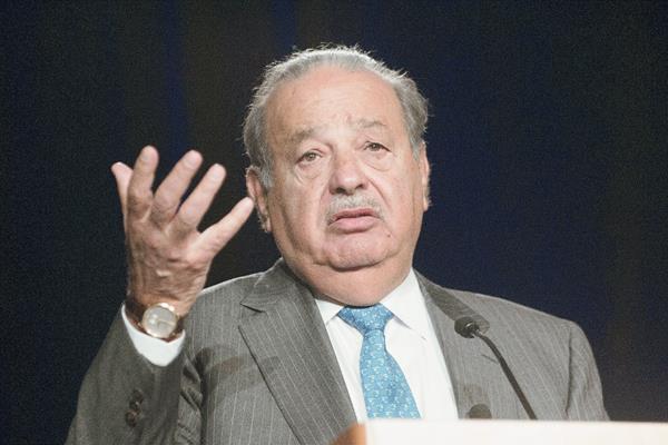 Carlos Slim durante la Global Markets Discovery Series (PL-EFE)