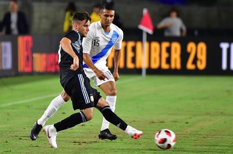 Argentina superó sin problemas a la Selección de Guatemala. (Foto Prensa Libre: AFP)