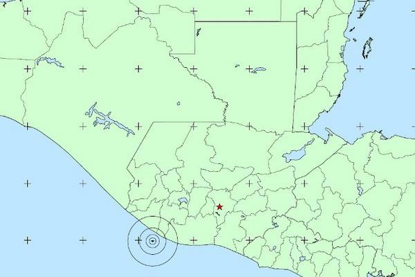 <p>El primer sismo tuvo lugar en las costas de Retalhuleu y Suchitepéquez. (Foto cortesía del Insivumeh)</p>