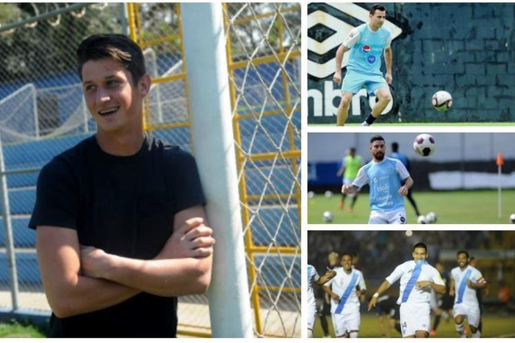 Hagen, Pappa, Márquez y Morales jugarán en el equipo de futbolistas nacionales contra Guastatoya en el partido a beneficio. (Foto Prensa Libre: Hemeroteca PL)