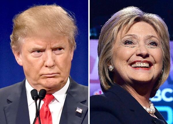 Donald Trump y Hillary Clinton, precandidatos a la Presidencia de EEUU.