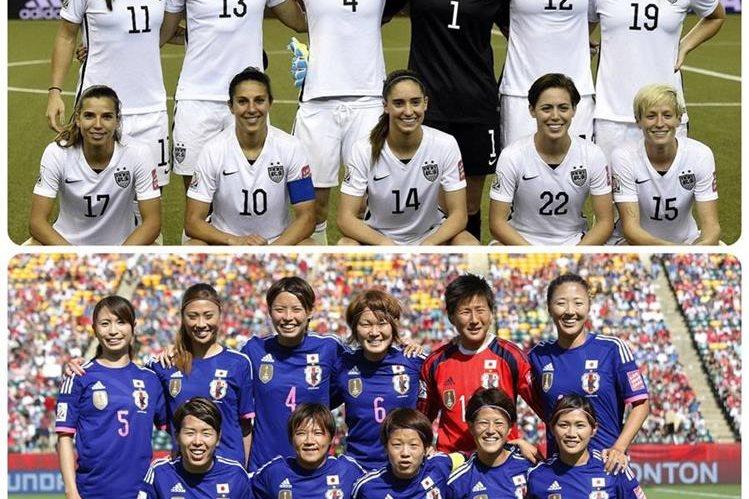 Estados Unidos y Japón llegan con sed de vengaza a la gran final del mundial. (Foto Prensa Libre: Agencias)