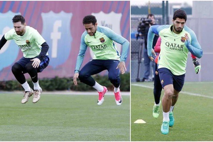 La MSN está de regreso con el Barcelona. (Foto Prensa Libre: Twitter Barcelona)