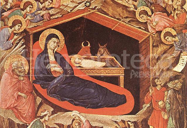 La natividad por Duccio di Buoninsegna en el año 1308. (Foto: Hemeroteca PL)