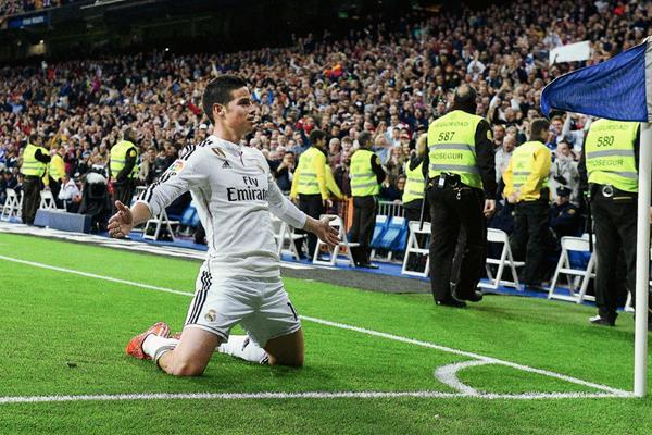 El colombiano James Rodríguez busca aportar su talento al Real Madrid. (Foto Prensa Libre: AFP).