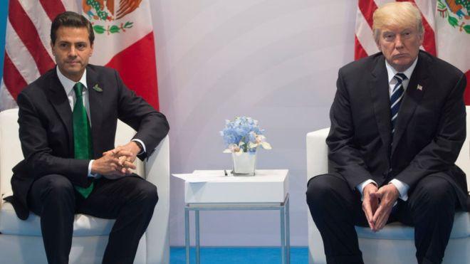 Según el gobierno mexicano, Trump y Peña Nieto no han conversado desde el encuentro en Alemania durante la cumbre del G20. AFP