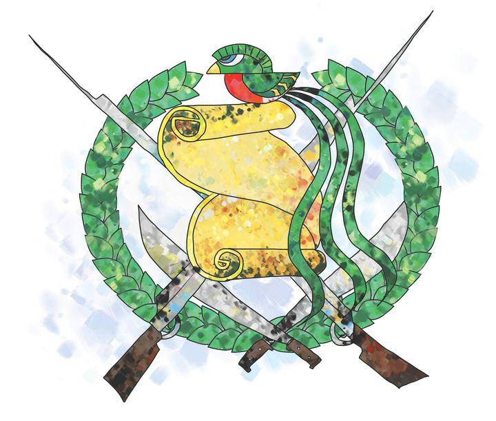 El pergamino recuerda la fecha de la Independencia y el quetzal simboliza la libertad. (Ilustración Prensa Libre: Kevin Ramírez).