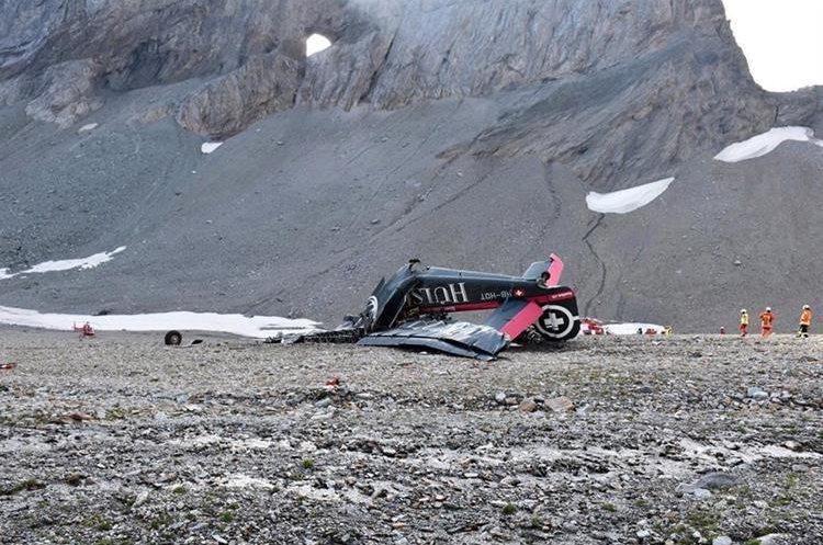No hay sobrevivientes del fatal accidente en Alpes suizos. (Foto Prensa Libre: EFE)
