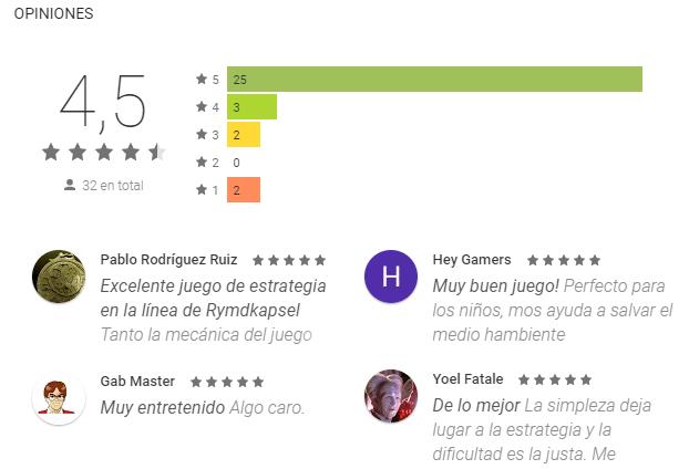 Nanuleu cuenta con buenas críticas en el portal de Google Play (Foto Prensa Libre: Google).
