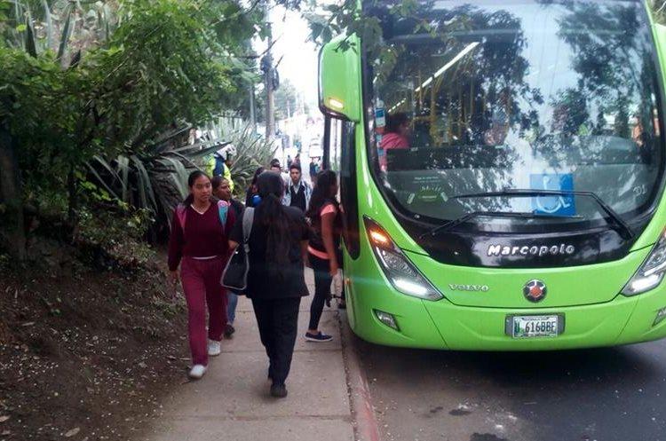 Los buses del Transmetro saldrán de las colonias Nimajuyu y Justo Rufino Barrios  hacia el Trébol y viceversa.