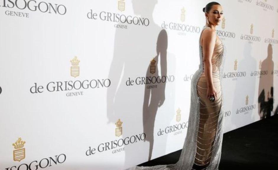 La distintiva imagen coporal de Kim Kardashian incluye su famoso trasero. (AFP)