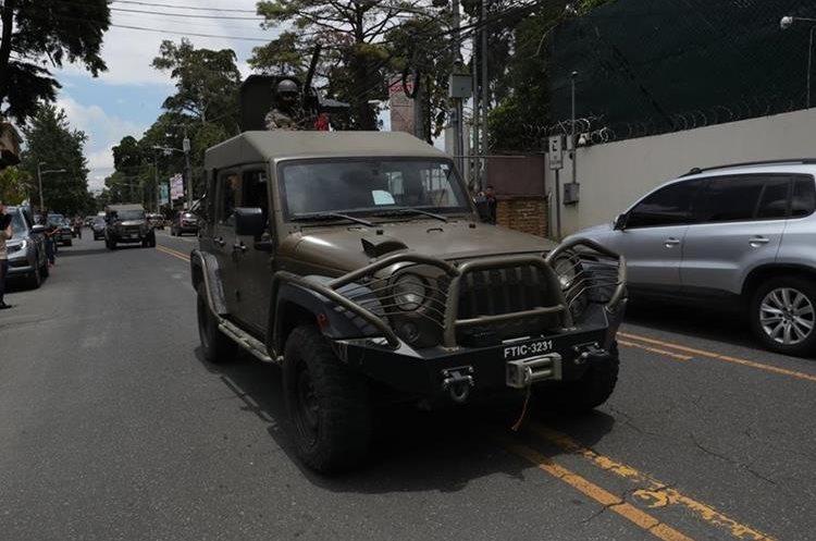 Estos vehículos son parte de una donación hecha por el Gobierno de los Estados Unidos y están destinados al combate de la criminalidad y el narcotráfico, según un comunicado de la Embajada de Estados Unidos en Guatemala.