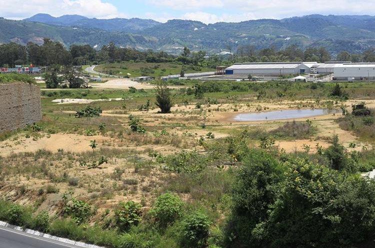Esta área en el Km 21 de la ruta al Pacífico será el foco de Delta Bárcenas. (Foto Prensa Libre: Esbin García)