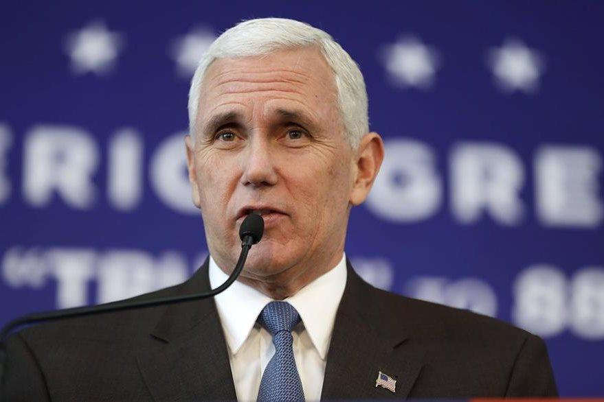 Mike Pence, candidato a la vicepresidencia de EE. UU. por el partido republicano. (Foto Prensa Libre: AP).