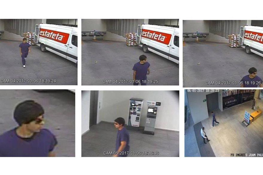 Secuencia del ataque captado por cámaras de seguridad. (Foto Prensa Libre: EFE)
