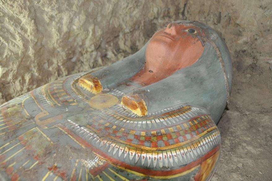 Cartonaje del asesor de Tutmosis III hallado en Luxor.