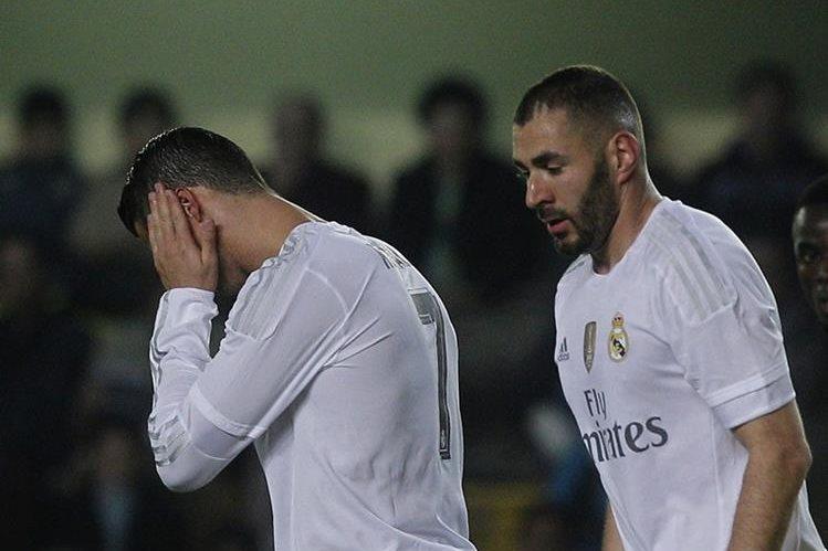 El Real Madrid volvió a decepcionar a su afición y perdió ante el Villarreal. (Foto Prensa Libre: AFP)
