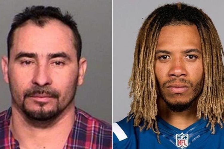 El migrante guatemalteco Manuel Orrego-Savala es acusado de causar el accidente en el que murió el jugador de los Colts de Indianápolis, Edwin Jackson. (Fotos: Policía del estado de Indiana/AFP).