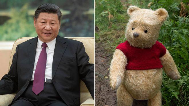 Las comparaciones entre el presidente Xi Jinping y Winnie the Pooh se hicieron virales en las redes sociales chinas desde 2013. GETTY IMAGES/DISNEY