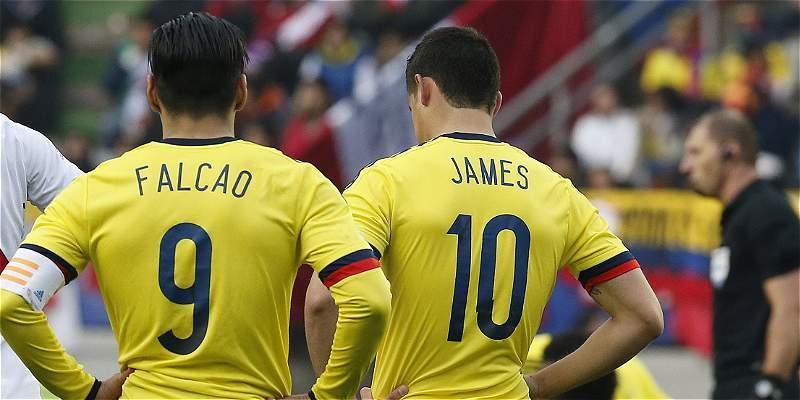 Falcao y James son parte de la selección que enfrentará a España y Camerún. (Foto Redes).